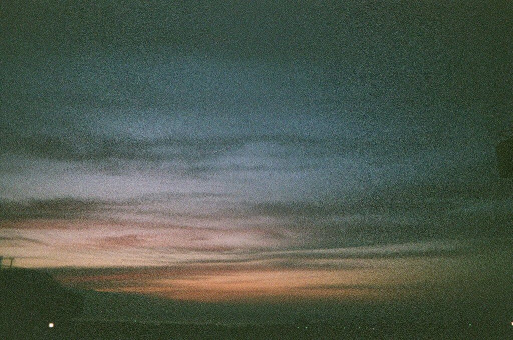 写ルンです 夕焼け ザラザラ